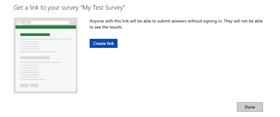 Share Survey Window