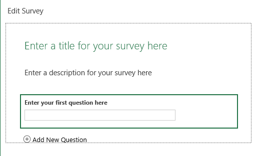 Initial Survey Window