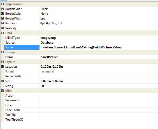 Image properties, SQL 2005