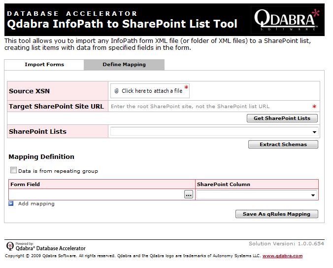 IPtoShPList Import Tab