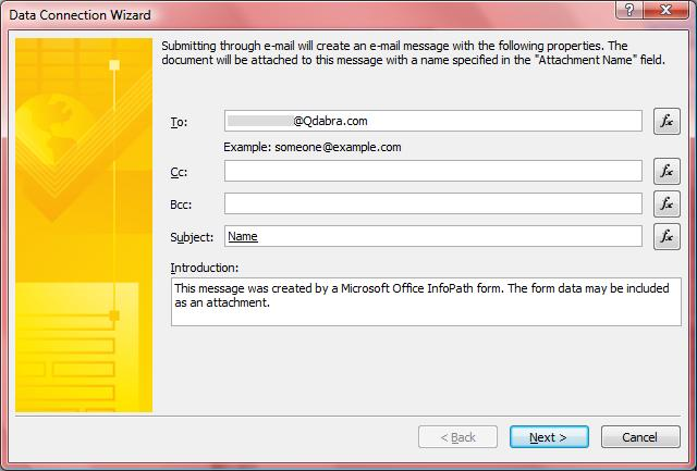 Using InfoPath E-mail Forms to Communicate with External Users ...
