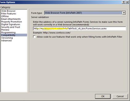 infopath web browser form